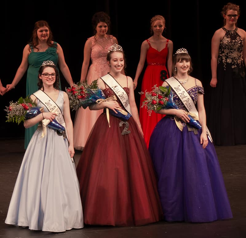 Abigail Waunch Miss Deer Park for 2019; Brooke Begani and Kristina Shupe  the 2019 princesses.