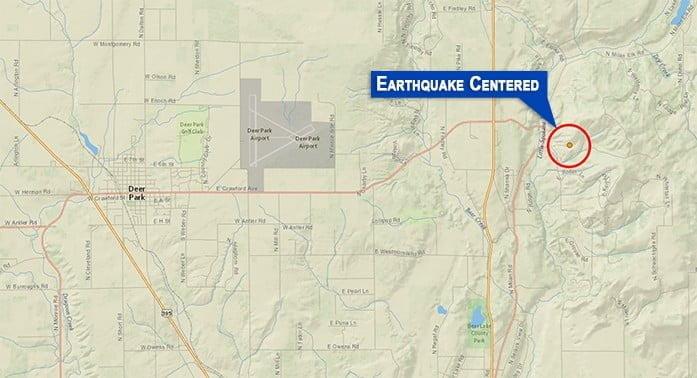 Earthquake centered near Riverside.
