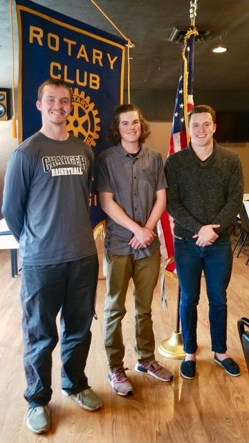 Left to right: Dustin Cates, Peyton Colville, and Michael Zanoni