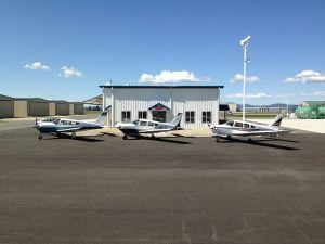 Flight school at Deer Park airport