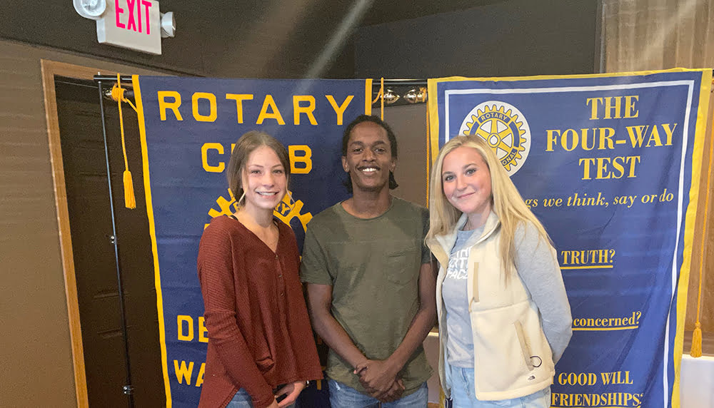 The students pictured left to right are Ali Lopez of Mary Walker, Jamar Distel of Riverside, and Isabella Strugarebic of Deer Park High Schools.
